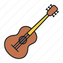 acoustic, guitar, instrument, melody, music, musical icon