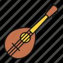classical, guitar, instrument, mandolin, mandolino, music, musical icon