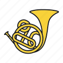 french, french horn, horn, instrument, music, musical, trumpet