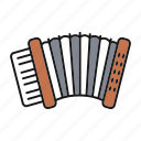 accordion, bayan, garmon, instrument, music, musical, russian icon