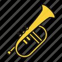 bugle, flugel, flugelhorn, horn, instrument, musical, trumpet