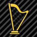 classical, greek, harp, heather harp, instrument, musical