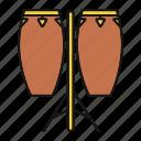 conga, drum, drums, instrument, music, musical, tumbadora icon