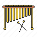 acoustic, african, instrument, marimba, music, musical, xylophone icon
