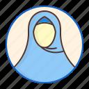 avatar, hijab, moslem, ramadan, veil, woman icon