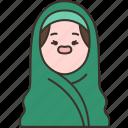 hijab, head, muslim, female, clothes