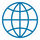 communication, connection, globe, internet, network, web, world map icon