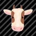 animal, cow, domestic, farm, head, pet, snout