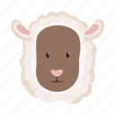 animal, domestic, farm, head, pet, sheep, snout