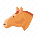 animal, domestic, farm, head, horse, pet, snout icon