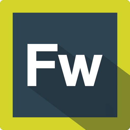 adobe, design, extension, file, fireworks, format, software icon