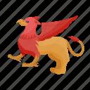 griffin, griffon, gryphon, mythological, lion body, eagle head, wings