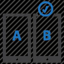 split, testing, user experience, ux icon