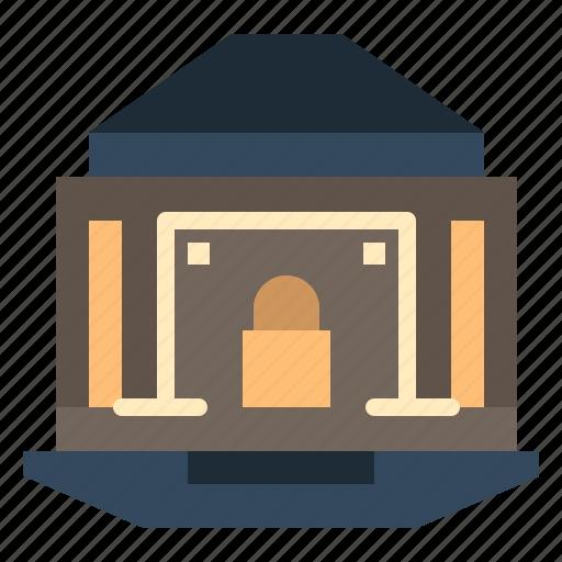 bank, banking, internet, lock, security icon