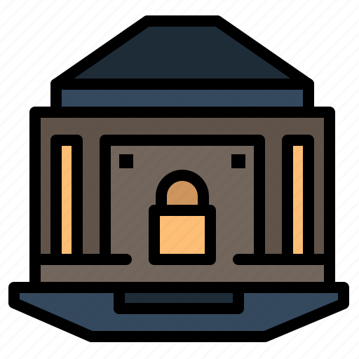bank, banking, internet, lock, security icon
