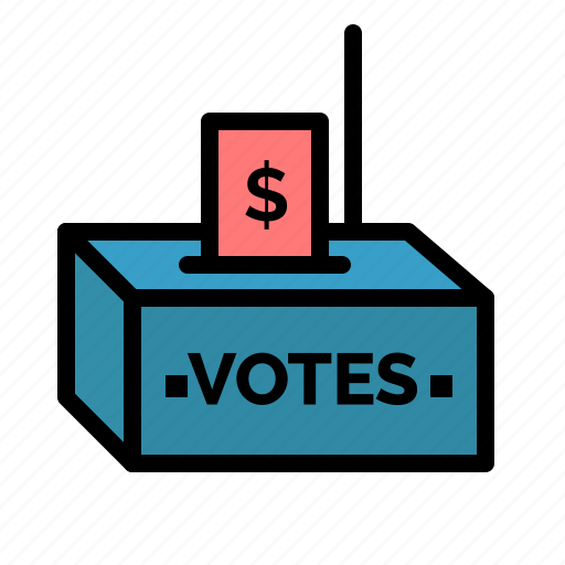 bribe, corruption, election, influence, money icon