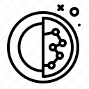 sphere, chemistry, biology, micro icon