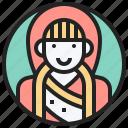 bhutan, bhutanese, costume, national, woman icon
