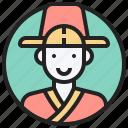 dress, korea, male, style, traditional icon