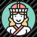 asia, central, mongolia, ulaanbaatar, woman icon