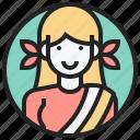 asia, female, nepal, nepali, south icon