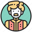 ceylon, ethnic, man, sinhalese, srilanka icon