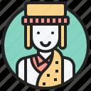 asia, inner, lama, man, tibet icon