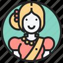 angkor, apsara, cambodia, female, oriental icon