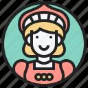 gondola, italy, pasta, venice, woman