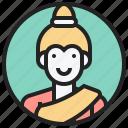 laos, mekong, sabaidee, sinhs, woman icon