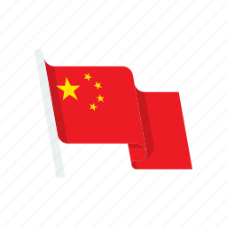 china, country, flag, national icon