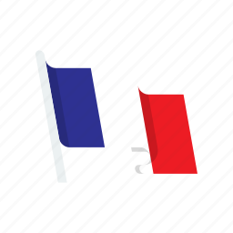 country, flag, france, national icon