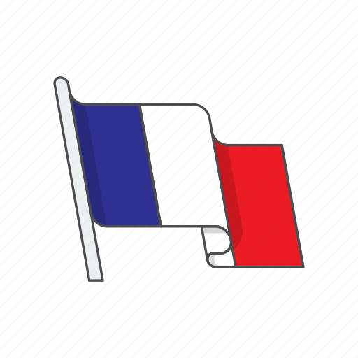 country, flag, france icon