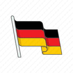 country, flag, germany icon