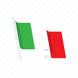 country, flag, italy, national icon