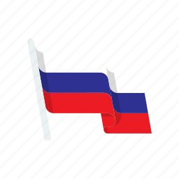country, flag, national, russia icon