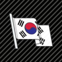 country, flag, korea, south icon