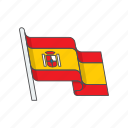 country, flag, national, spain