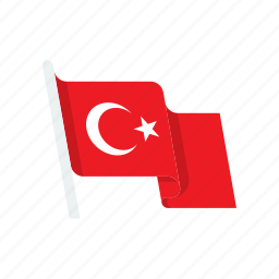 country, flag, national, turkey icon