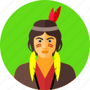 america, amerindians, indians, indigenous, native americans, wild icon