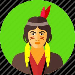 america, amerindians, indians, indigenous, native americans, wild icon