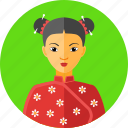 asian, china, chinese, country, national, traditional, woman icon
