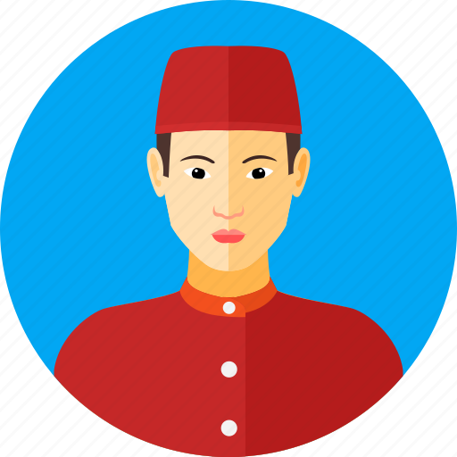 asian, country, indonesia, indonesian, man, nationality, traditional icon