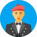 country, european, man, nationality, scotland, scottish, traditional icon