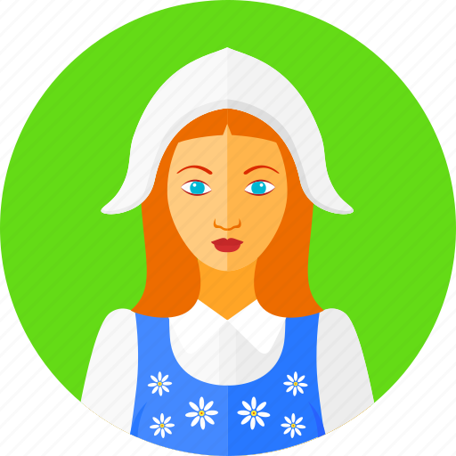 country, european, national, nationality, sweden, swedish, woman icon