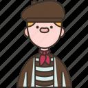 frenchman, breton, stripe, traditional, clothes icon