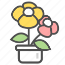flower, flowers, potted plant icon