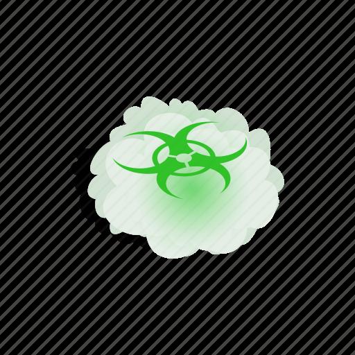 biohazard, cloud, danger, dangerous, isometric, toxic, warning icon