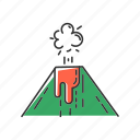 disasters, eruption, explosion, geothermal, natural, volcanic, volcano icon