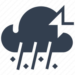cloud, disaster, hail, ice storm, natural, rain icon